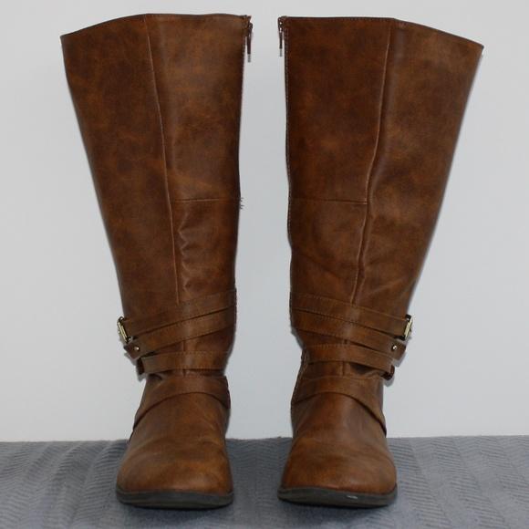 60c77c028e5 Brash Shoes - Brash Tall Boots WIDE CALF! 9.5